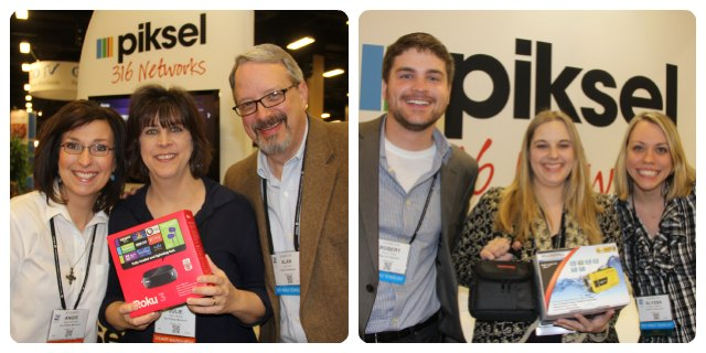 Piksel gives away prizes at NRB to Bethel World Outreach Church and Ron Phillips Ministries